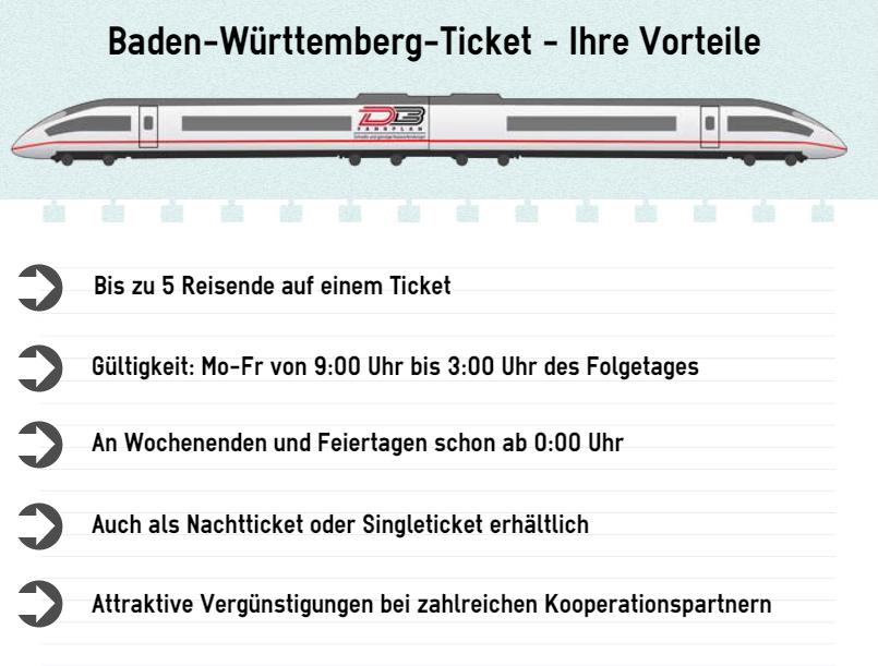Baden-Württemberg-Ticket Vorteile
