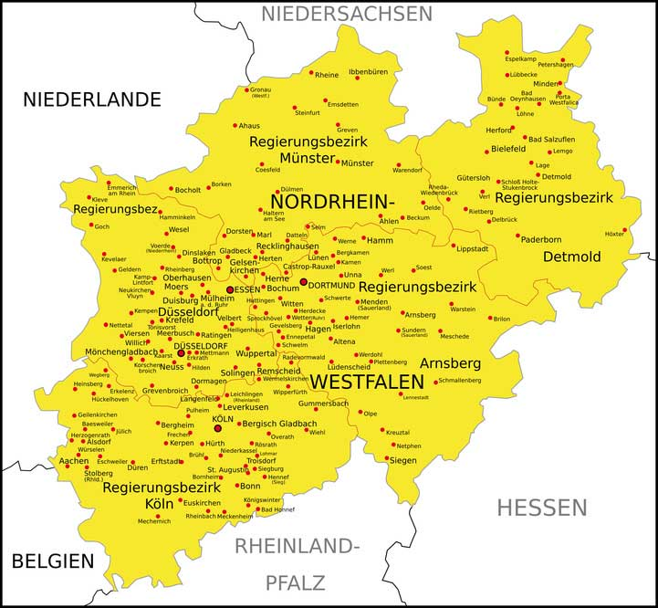 NRW Ticket - Landkarte