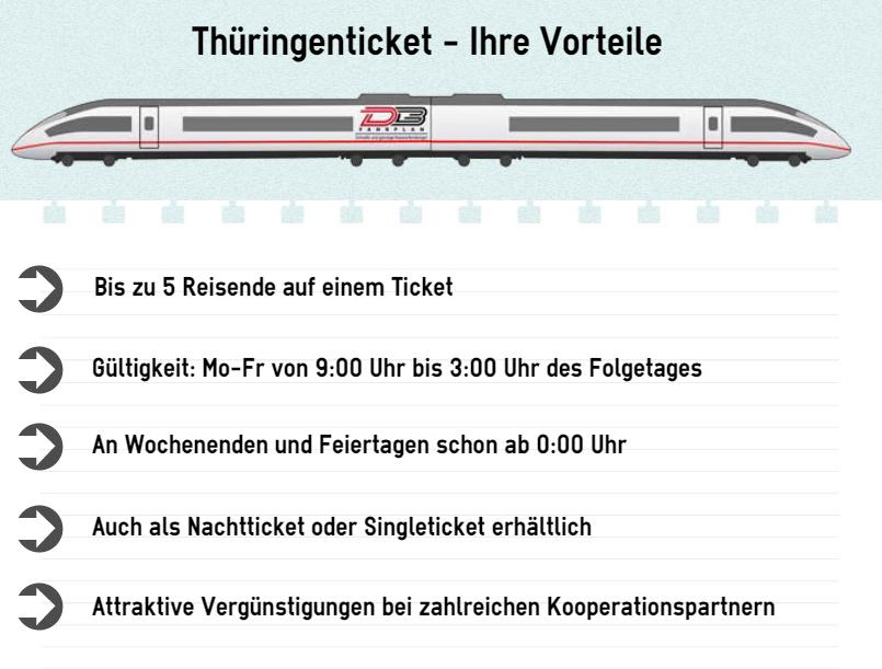 Thüringenticket Vorteile